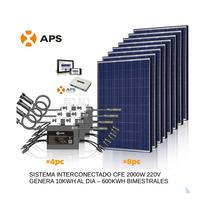 Planta De Energia Solar 2kw/ Interconectada Cfe 110v