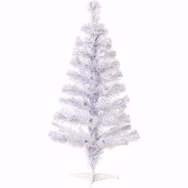 Árvore De Natal Branca 1,20m 120 Galhos + Pisca Pisca Brinde