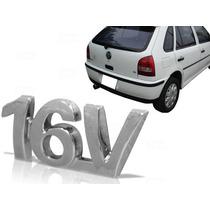 Emblema Volkswagen 16v Cromado Porta Mala