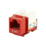 Jack Rj45 Categoria 6 Caja X 10 Unidades Rojo