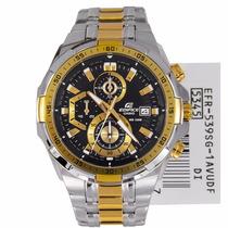 Relógio Casio Edifice Efr-539 Sg-1av Cronometro V.mineral Gd