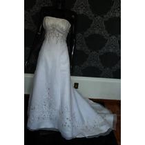 Vestido De Noiva Semi-sereia Tomara-que-caia Marca Mori Lee.