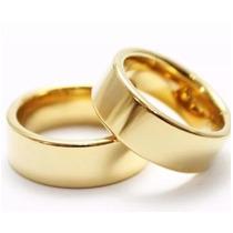 Par Alianças 10mm Casamento Noivado Cor Ouro Moedas Antigas