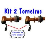 Kit 2un Torneira Automática Para Filtro Barro Bebedouro Agua
