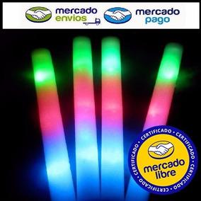 50 Varas Barras Goma Espuma Rompecoco Luminoso Led 3 Colores