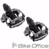 Pedal Shimano Par M520 Clip Preto Com Taquinhos M 520 Mtb