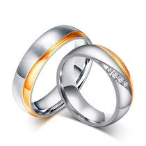Aliança Aço Inox Dourada Ouro Prata De Compromisso Casamento