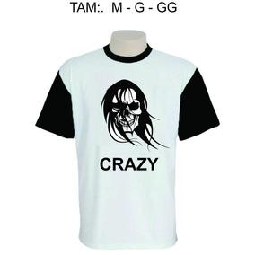 Camisa Personalizada - Caveira Rock Crazy