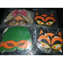 Caretas Mascaras Antiguas Cotillon Payaso Gato Deca 60 70