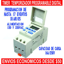 Temporizador Programable Digital 120 Y 220 Vac