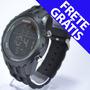 Relógio Preto Masculino Luz Digital Potenzia Barato Estiloso