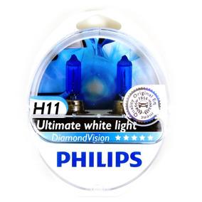 Par Lâmpada Philips Diamond Vision H11 Original Frete Gratis