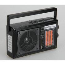 Rádio Portátil 12 Faixas Am / Fm / Sw1-9 Usb/sd E Lanterna