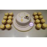 Combo! Torta Comunión De 2 Kg + 18 Cupcakes Temáticos