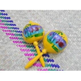 Paquete Maracas De Guaje Juguete Típico Mexicano 20cm