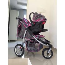 Carrinho De Bebê Baby Happy Três Rodas Com Bebê Conforto