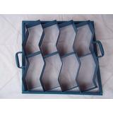 Forma 8 Peças Paver Intertravado Em S De Concreto 20x10x08cm