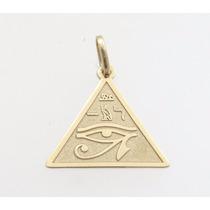 Olho De Horus Em Pingente De Ouro 18k - Feliz Joias
