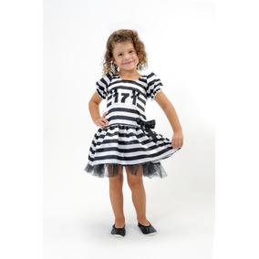 Vestido Fantasia Infantil Menina Presidiaria C/ Frete Grátis