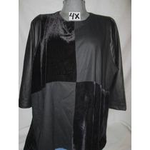 Blusas Negra De Gala En Tallas 4x Extragrande