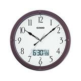 Reloj Casio De Pared/aguja/mes Dia,hora Digital/marron