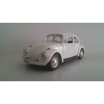 Miniatura Fusca Branco Volkswagen Escala 1.32