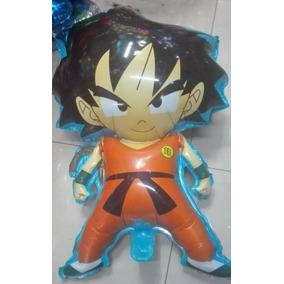 Globos Metalicos Helio Fiesta Dragon Ball 78*45cm Lote 2 Pza