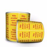 Lacre De Segurança Com Picote - Amarelo - 3 Milheiros