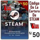 Códigos De La Cartera De Steam (steam Codes) 50pen