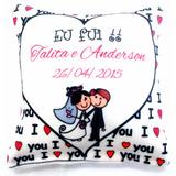 Almofadinhas Personalizadas 15x15 - Casamento-aniversário