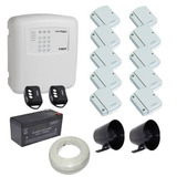 Kit Sistema Alarme Ecp 10 Sensores Sem Fio Fácil Instalação