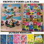 Tapete Infantil Isolante Termico Carros X Mickey 1,20x1,80