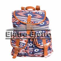 Minimochila Bolsa Saco Bag Feminina Étnica Estampa Peruana