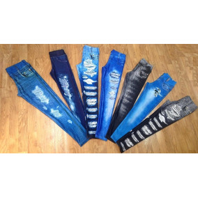 Kit 4 Calça Legging Jeans Legue
