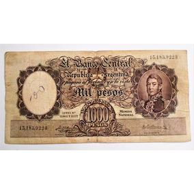 Antiguo Billete De 1000 Mil Pesos Moneda Nacional Serie B