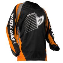 Camisa Motocross Infantil Pro Tork Insane Laranja