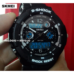 Relógio Skmei S Shock 0931 Preto & Branco - Fotos Reais
