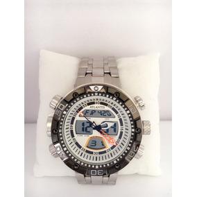 Relógio Masculino Atlantis Prata Analógico Digital
