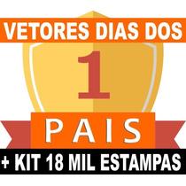 Kit Vetores Dia Dos Pais Estampas Chinelos + Brinde