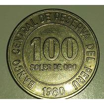 Moneda Peru 100 Soles De Oro 1980 *051