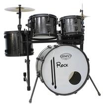 Bateria Acústica Rmv Rock 18-12-8-13 C/ Caixa Pratos Banco