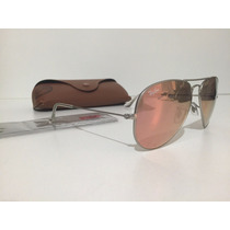 Óculos Ray-ban Aviador Rosê Espelhado- Original.