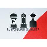 Estampado River Parche 3 Copas El Mas Grande America Clasico
