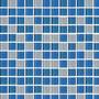 Malla 4mm Crystal Mosaics Azul Blanco 724