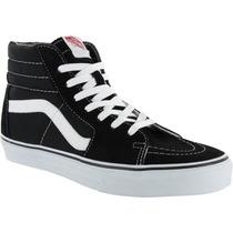 Bota Vans Sk8-hi Clasica Negro/blanco Look Trendy