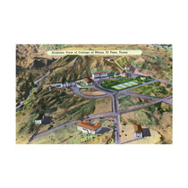 El Paso, Texas, Aerial View Of The College Of Mines Print,