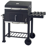 Parrilla Movil Asador Portatil Carbon Regulable En Altura