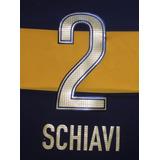 Estampado Boca Juniors #2 Schiavi Dorado 2012 Ultimo Partido