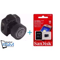 Micro Câmera Espiâ Camuflada Sem Fio + Cartao De Memoria 16g