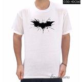 Camiseta Batman Emblema De Morcego Preto Com Estilhaços